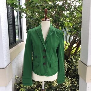 Anthro Daughters of the liberation Green Jacket